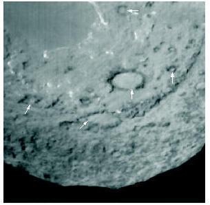 Особенностью кометных кратеров