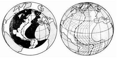 Выполненная К.Перри компьютерная реконструкция раскрытия Атлантического океана
