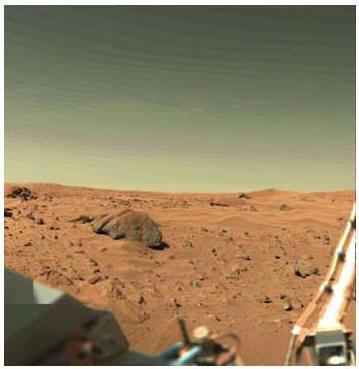безжизненная поверхность Марса